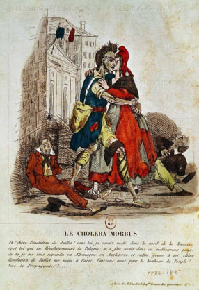 Epidémie de choléra à Paris, 1832.